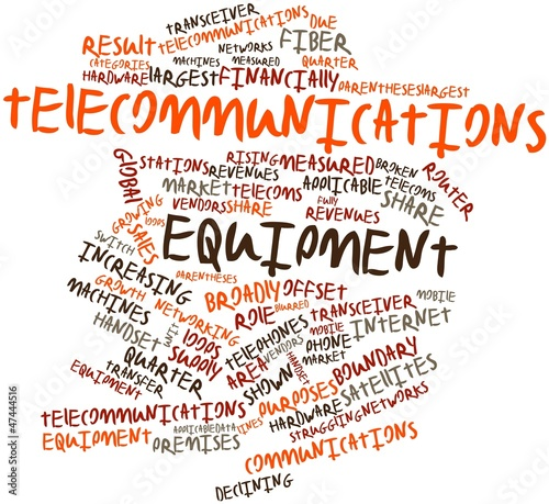Word cloud for Telecommunications equipment