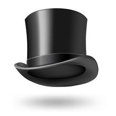 black getleman hat on white