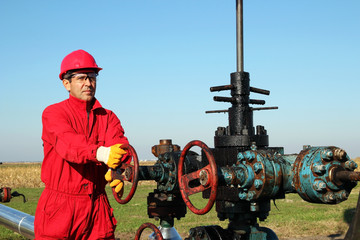 Oil Worker at Drilling Rig