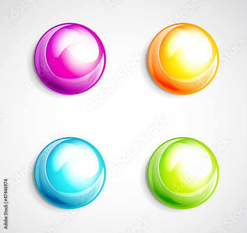 Colorful bubble buttons