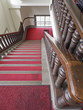 Red carpet staircase in the castle
