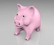 pink piggy smiling