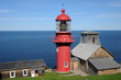 Quebec, the lighthouse of Pointe a la Renommee in Gaspesie