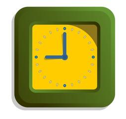 Relógio Verde e Amarelo