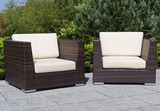 outdoor furniture rattan armchairs