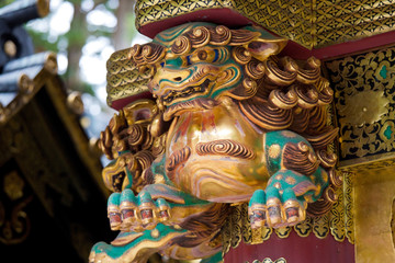 Dragon at Rinno-ji Buddhist temple in Nikko, Japan