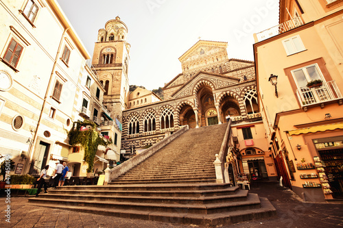 Square of the Cathedral of St Andrea in Amalfi