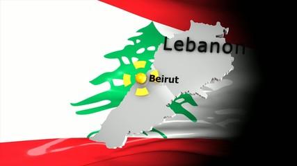 Crisis location map series, Lebanon.