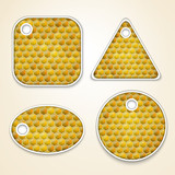 Vector honey combs labels
