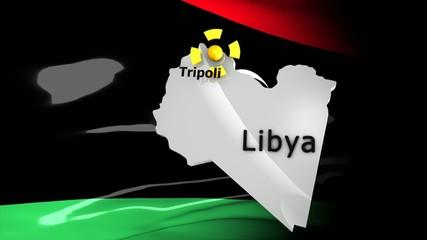 Crisis location map series, Libya.