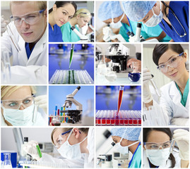 Scientific Research Team Men & Women in a Laboratory