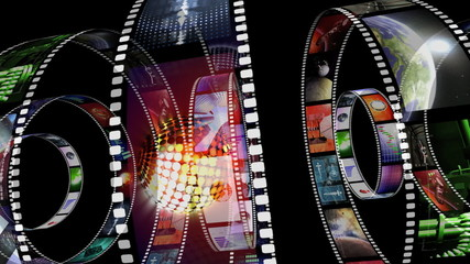 Animation of rotating film reels