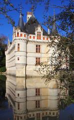 Azay-le-Rideau et reflet