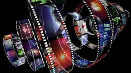 Loop-able animation of rotating film reels