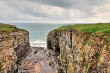 Raming Hole, a coastal feature in Pembrokeshire.