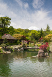 Japanese Formal Garden With Mount Fuji