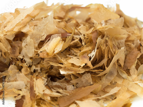Japanese dried bonito isolated isolated on white background