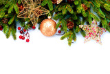 Christmas Decorations Isolated on White Background