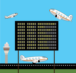 Airport view vector design
