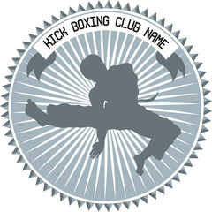 kick boxing emblem