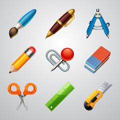 School icons-set 1