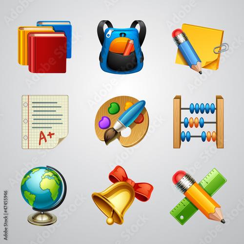 School icons-set 4