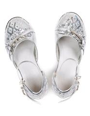 Children's fancy shoes top view