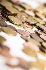 Euro und Cent Münzen