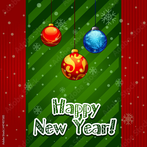 Christmas Greeting Card. christmas balls