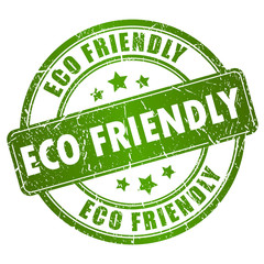 Vector eco friendly stamp