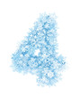 Number 4, frosty snowflakes - 47459737