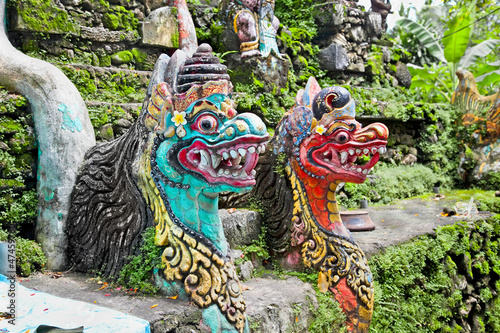 Traditional balinese dragon monster secure the gate of temple, B