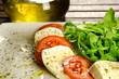 Caprese salad, traditional italian appetizer