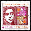 Postage stamp Poland 1978 Gabriela Zapolska, Polish Dramatist