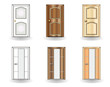 Set of doors on a white background vector
