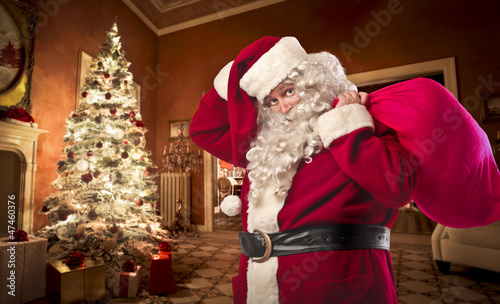 Santa Claus in a House