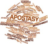 Word cloud for Apostasy