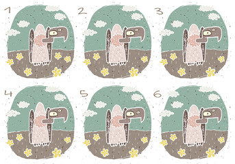 Vulture Puzzle ... match alike pairs ... solution No. 2 and 3