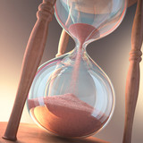 Hourglass, time is money.