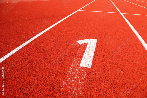 Closeup of the running track