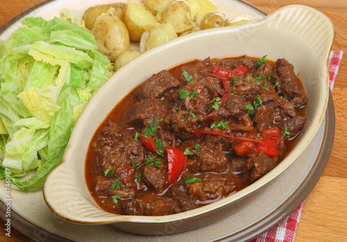 Beef Stew with Vegetables Meal