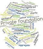 Word cloud for Private foundation
