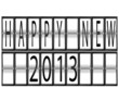 happy New Year 2013 airport timetable terminal
