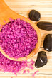 Purple bath salt