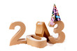 Paper numbers forming 2013