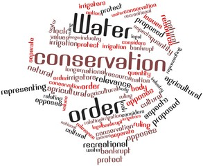 Word cloud for Water conservation order