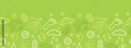 Vector eco environmental horizontal seamless pattern ornament
