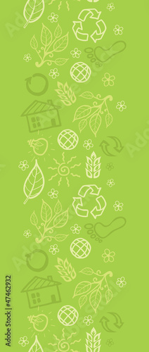 Vector eco environmental vertical seamless pattern ornament