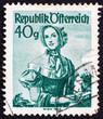 Postage stamp Austria 1949 Woman from Vienna, 1840