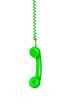 Green telephone cable hanging
